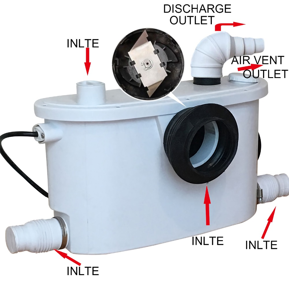 110V American type Macerator pump use behind on toilet-in Pumps from ...