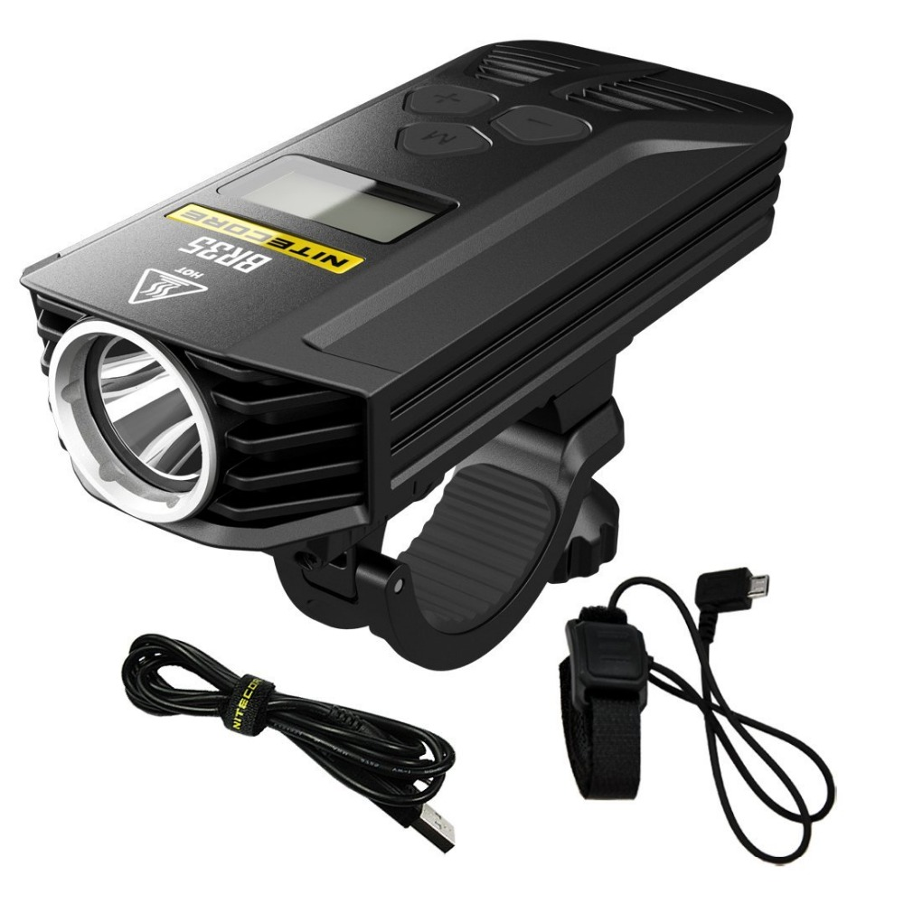 NITECORE BR35 bike light Dual Beam OLED Rechargeable bicycle light 2 CREE XM L2 U2 1800lm