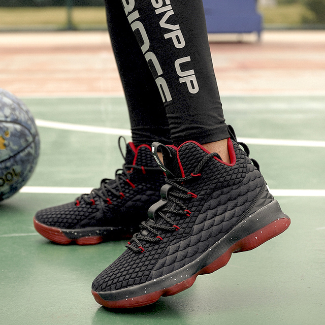 LUONTNOR Damping Men Basketball Shoes 2018 New Athletic Sneakers Males Ball Shoes Plus Size 45 European Basket Homme Chaussure