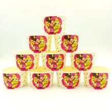 10pcs/lot Minnie Mouse Ice Cream Cup Bowl Disposable Factory Selling Party Supplies