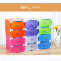 6PCS Extra Size Eco Friendly Shoe Storage Box Case Transparent Plastic Rectangle PP Organizer Thickened Drawer