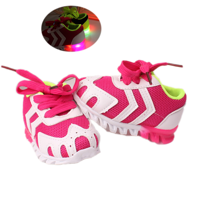 LED flash cute baby causal sneaker shoes mesh soft breathable shoes for bebe 3-18M infantil newborn causal outdoor shoes hot