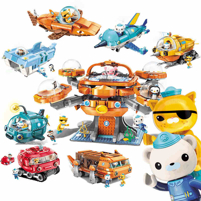 ENLIGHTEN Ideas City Octopus octopod Octonauts Cartoon Building Blocks Sets Bricks Model Kids Classic Compatible Legoings duploENLIGHTEN Ideas City Octopus octopod Octonauts Cartoon Building Blocks Sets Bricks Model Kids Classic Compatible Legoings duplo