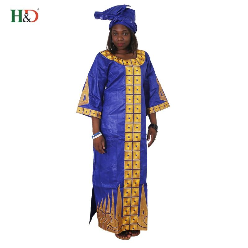 Aliexpress.com : Buy 2018 African Cotton 100% For Women bazin riche dress head wraps African
