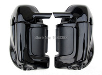 Glossy Vivid Black Lower Vented Fairing Fit FOR Harley ROAD KING GLIDE FLHT