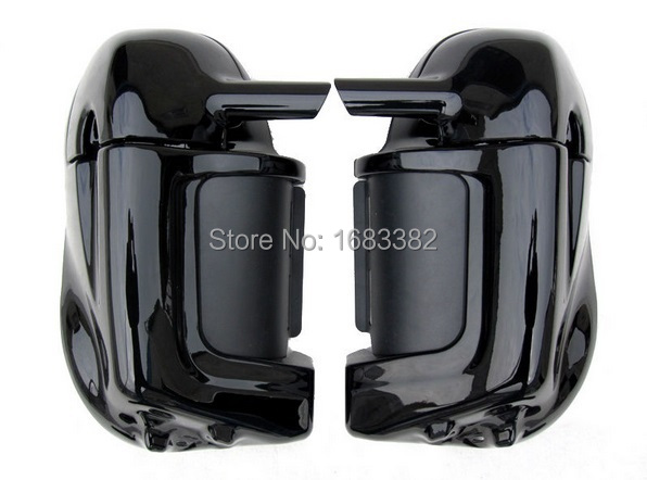 Motorcycle Painted Bright Vivid Black Lower Vented Leg Fairing Glove Box Hardware For Harley Davidson Touring HD Road King Tour