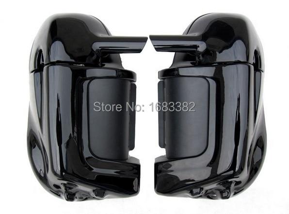 Мотоцикл окрашен яркий яркий черный Нижняя вентилируемые ноги Зализа скобяными бардачок для Harley Дэвидсон гастрольный тур HD дороги короля