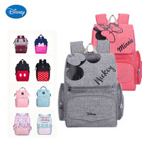 Disney New Mummy Backpack Zipper Large Capacity Travel Maternity Bag Diaper Baby Bag Multifunctional Nursing Bag Baby Backpack