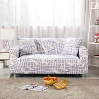 משובץ כיסוי ריהוט פינת דפוס שרוך Strertch אוניברסלי כיסוי ספה לסלון 100% פוליאסטר ריפוד ספה ספה