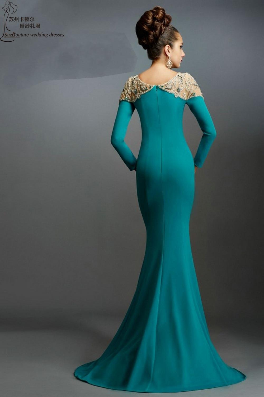 Long sleeve evening dresses 2015 ME1374 elegant mermaid evening ...