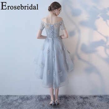Erosebridal New Arrival 2019 Boat Neck Evening Dress Lace Evening Gown Simple Formal Party Dress Custom Made Girl Dress