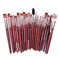 2017 New Professional 20pcs Makeup Brushes Set Eyeshadow Red Wood Rose Gold Cosmetic Brushes Kit Beauty Tools