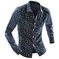 2016 Brand New Mens Shirts Moon Casual Slim Stitching Long-Sleeved Shirt Dress Camisa Masculina Casual Shirts Size XXL