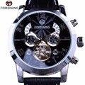 Forsining 5 Hände Tourbillon Mode Welle Zifferblatt Design Multi Funktion Display Männer Uhren Top-marke Luxus Automatische Uhr Uhr