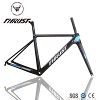 TRIDENT THRUST NEW DIY T800 UD High Quality Carbon Frame Road Bicycle Light Weight Frame Set