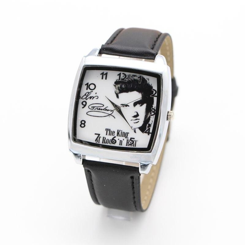 Elvis Presley Watch Brand Kids Fashion Casual Sport Watches Leather Quartz Watch Wristwatch Relogio Feminino Clock