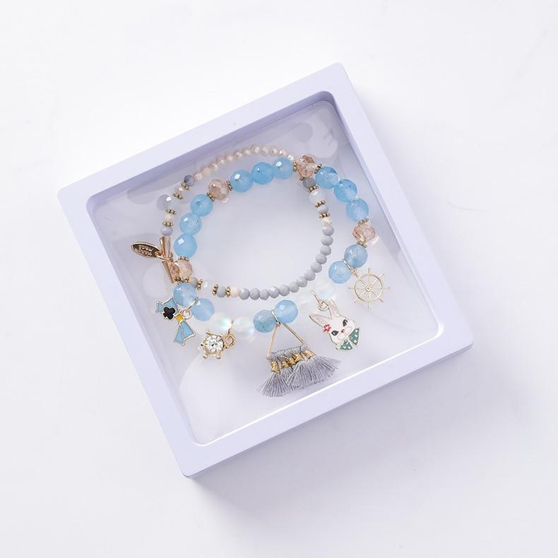 Bracelet Jewelry Box Packaging Blue Bangle Bracelet Paper Gift Boxes Caixa De Pulseira