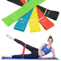 5 pack Resistance Loop Exercise Rubber elastic Bands with carry bag for Yoga training& Fitness & Workout & Crossfit & Strength