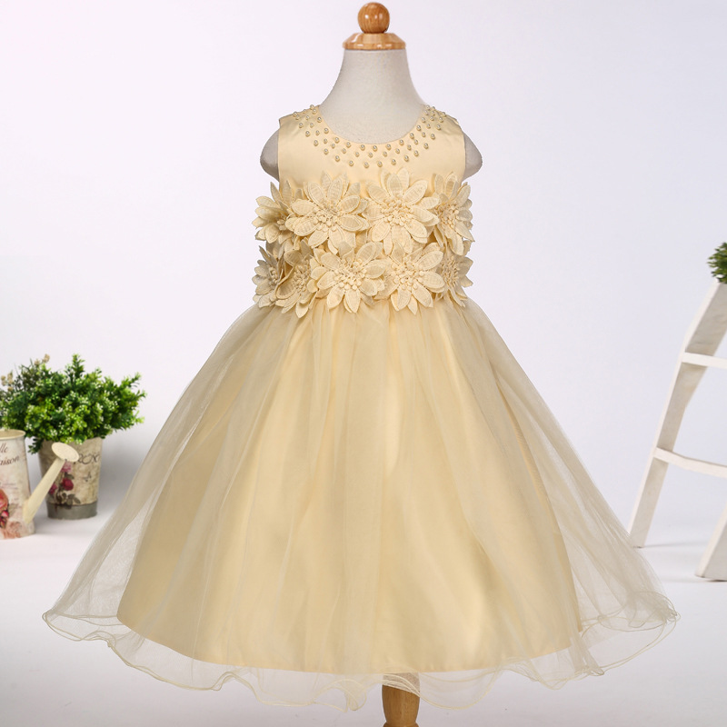 Beaded Embroidery Girls Tutu Dress 2017 New Flower Girl Dress Children Clothing for Girl Party Dress 2-13 year old hello bobo girls dress collection of sports in the new year is suitable for 2 to 6 years old children s clothing