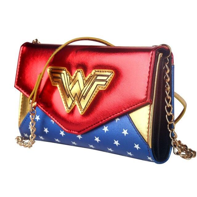 46241abd88f fashion female bag Wonder Woman Messenger Bag shoulder bag party bags for  women new