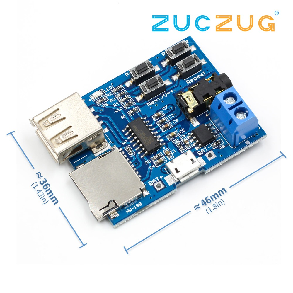 Mp3 Nondestructive Decoder Board Built-in Amplifier Mp3 Module Mp3 Decoder TF Card U Disk Decoding Player