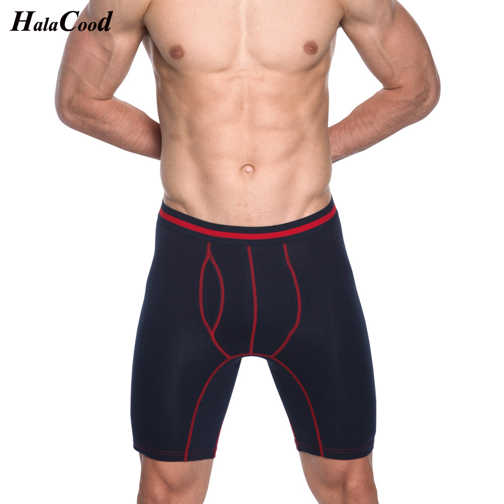 Hot Selling S Cotton Antibacterial Comfortable Long Leg Mens Boxers Shorts Male Underpants Six Colors Size M To Xxxl Men's Underwear Boxers