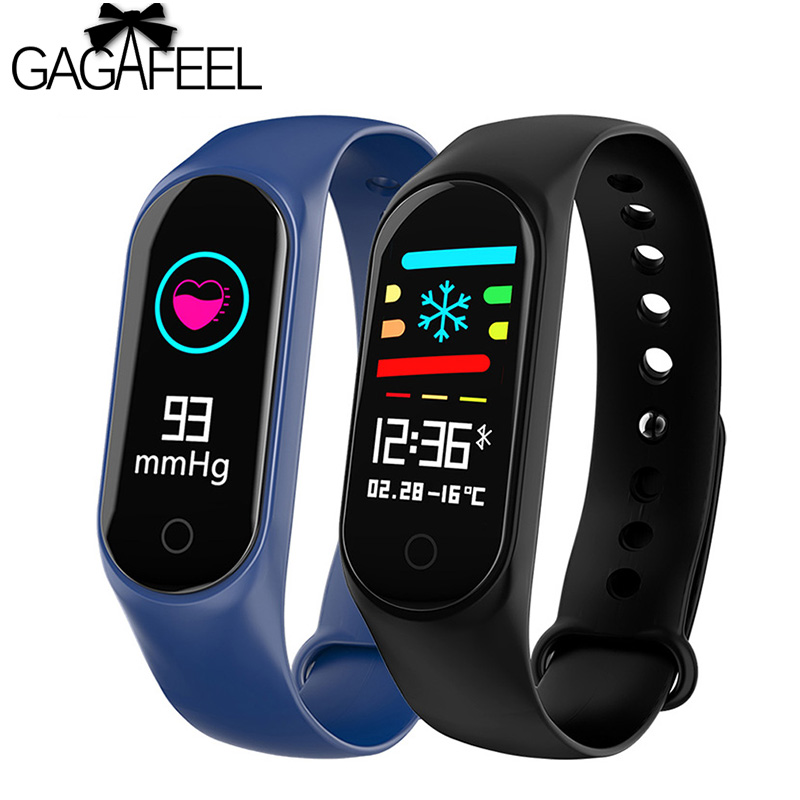 M3S Smart Bracelet Color screen Waterproof Fitness Tracker blood pressure Heart Rate Monitor Smart watch For Android IOS phone