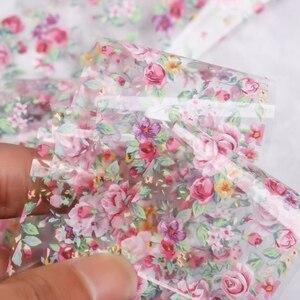 Image 5 - Elessical 1 pcs 100*4 cm 패션 네일 아트 호일 전송 스티커 네일 데칼 디자인 꽃 장식 손톱 홀로그램 랩 도구