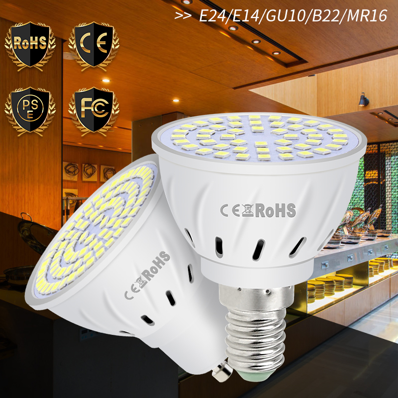 Ampoule Led E27 220V LED Lamp E14 Led Bulb 230V GU10 Spotlight Bulb 240V MR16 Spot Light GU5.3 2835 B22 LED Chandelier 4W 6W 8W