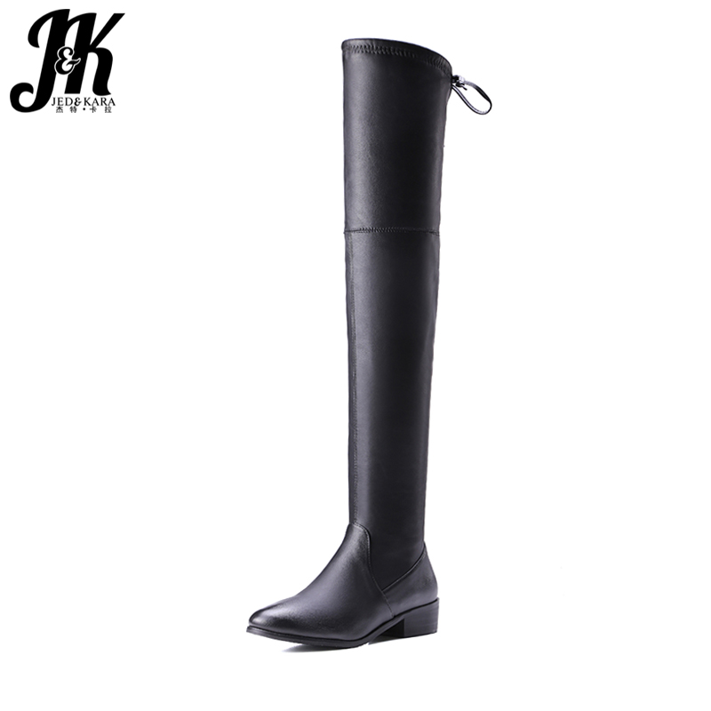 J&K 2018 Sexy Stretch Over the Knee Boots Women Zipper Short Plush Winter Boots Leggings Thigh High Boot Chunky Heels Footwear mcmahon j the winter people a novel