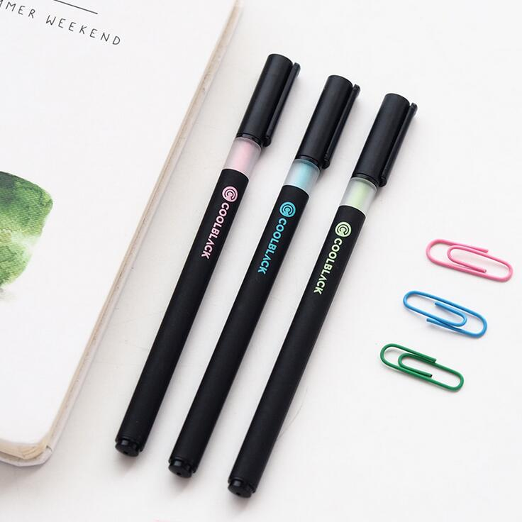 Cool Black Gel Pen Signature Pen Escolar Papelaria School Office Supply Promotional Gift
