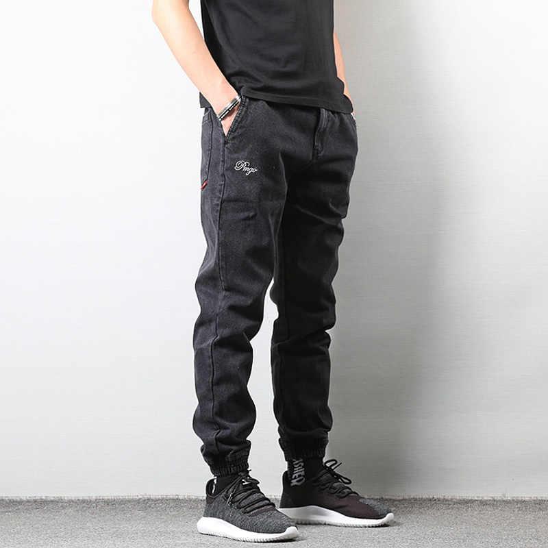 Pantalones Vaqueros Ajustados Para Hombre Pantalon Cargo Estilo Japones Hip Hop Color Negro Pantalones Vaqueros Aliexpress