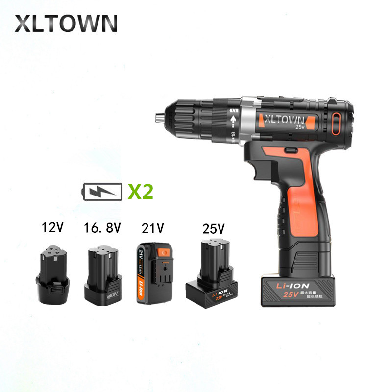 Xltown New lithium Electric drill 12/16.8/21/25v rechargeable lithium battery electric screwdriver with 2 battery power tools 2016 promotion new standard battery cube 3 7v lithium battery electric plate common flat capacity 5067100 page 2