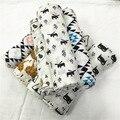Cobertores 0-3 Meses Newborn Correu Animais Algodão 2016 Novo Estilo 100% algodão Cobertor Musselina Swaddle Receber 120*120 cm