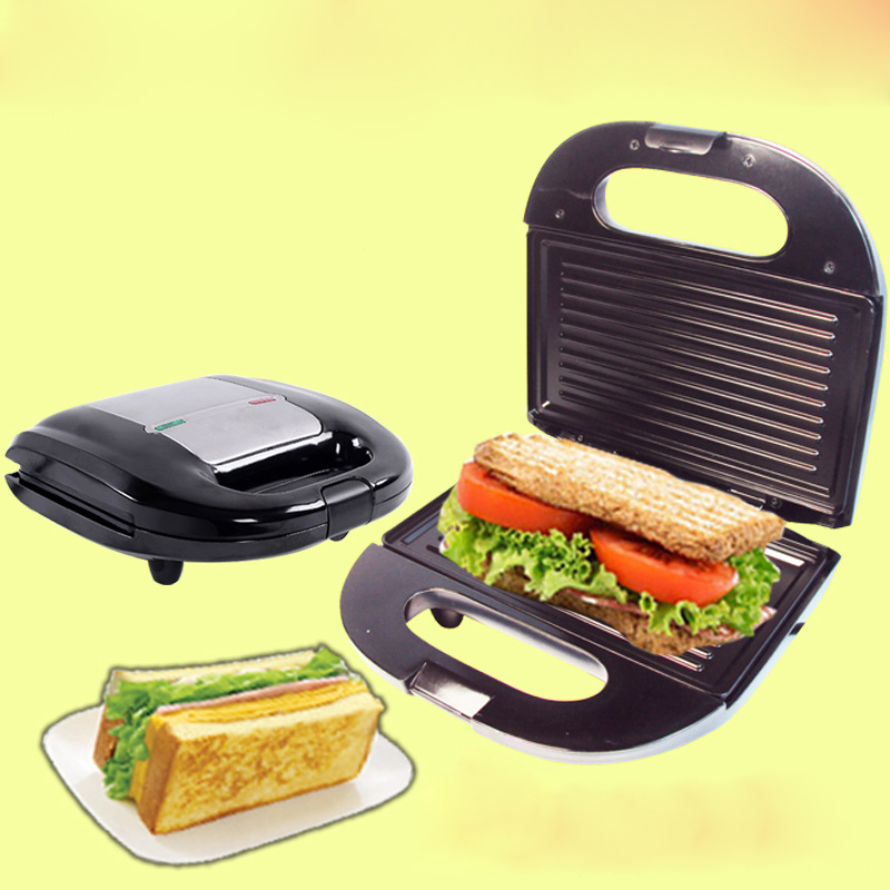 DMWD Home Sandwich Machine Small DIY Crepe Pancake Breakfast Waffle Maker Electric Grill Stainless Steel 220V small appliance