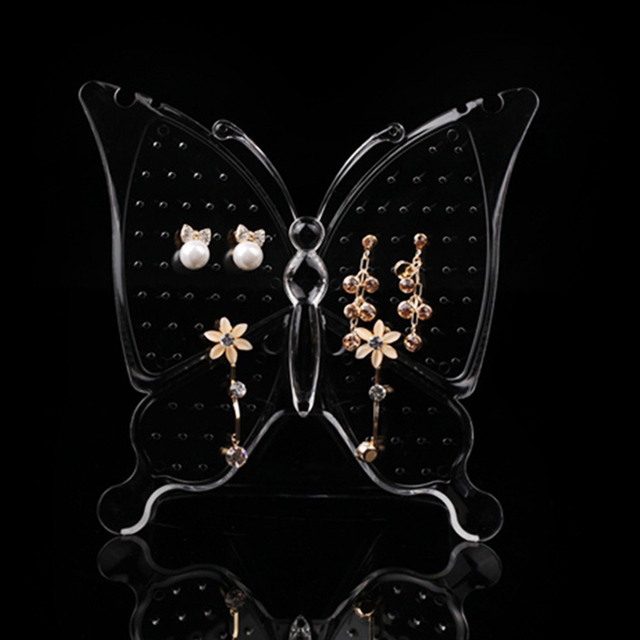 GENBOLI Butterfly Acrylic Jewelry Organizer Earrings Hanger Display