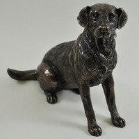 Bronze Labrador Dog Sculpture Signed Harriet Glen