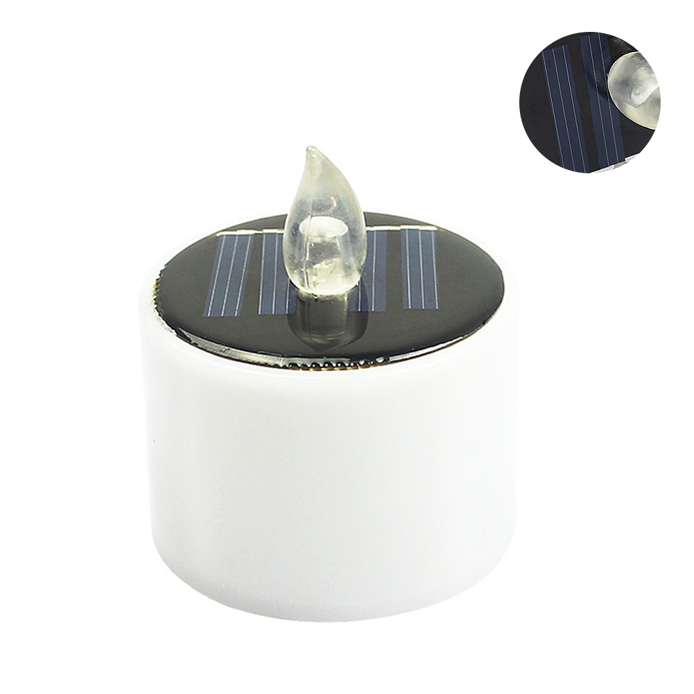 Camping Candle Light Simple Switch Outdoor Eco-friendly Smokeless Wedding Save Energy UV Lawn Home Decoration Solar Powered