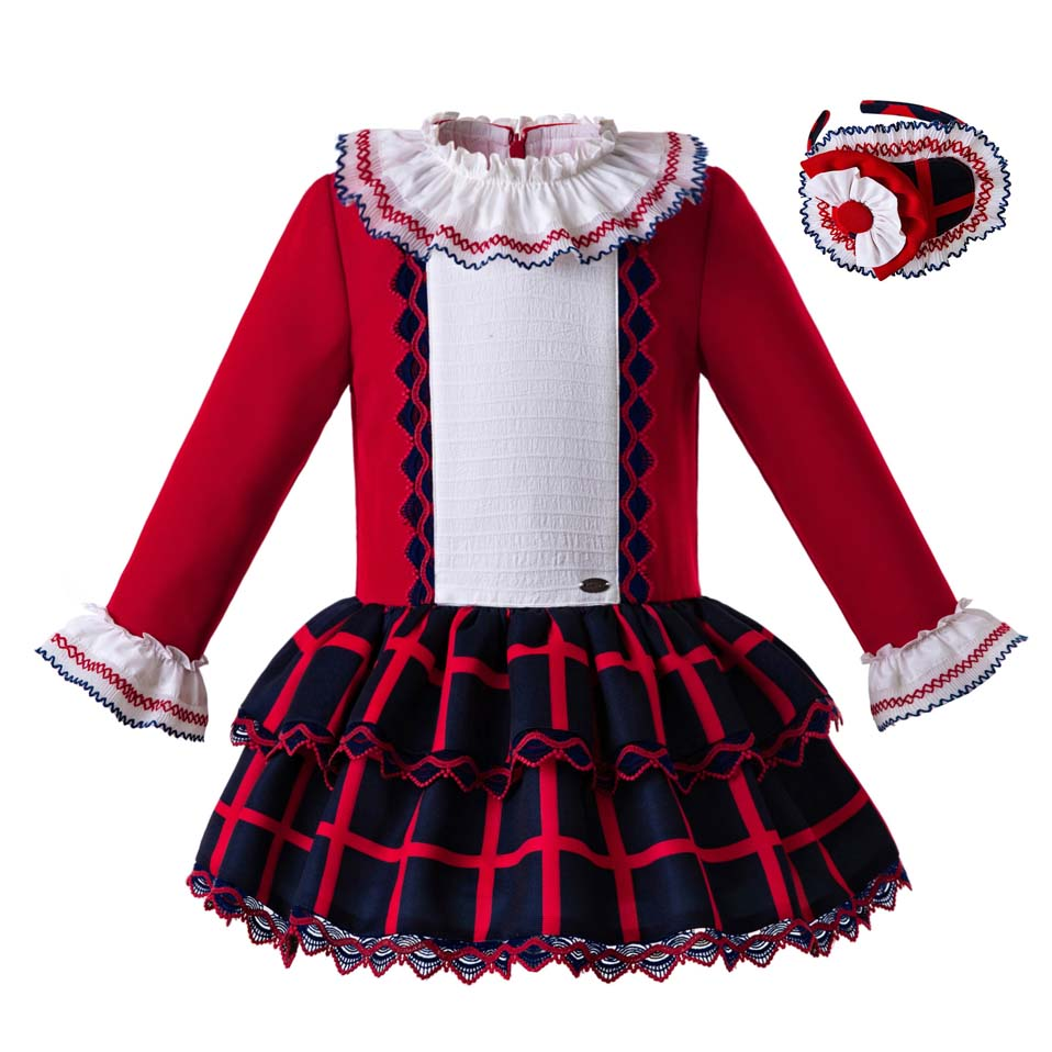 Detail Feedback Questions about Pettigirl Lastest Autumn Red Girls Layers  Long Sleeves Red Gird Wedding Dresses With Headwear For Kids Clothes G  DMGD107 ... 0180174302c4