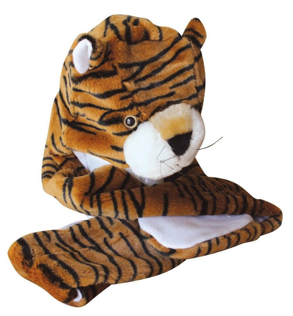 Wholesale Wholesale Cartoon Animal Tiger Cute Fluffy Plush Hat Cap ...
