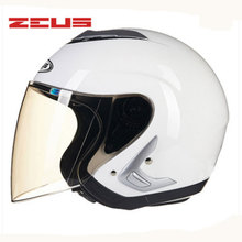 ZEUS Free shipping, New open face 3/4 motorcycle Protective Gear motorcross Easy clasp closure Casco Upscale motorbike 607B