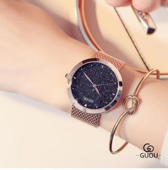 Luxury Fashion Ladies Steel Gold Ladies Watch Elegant Minimalism Rhinestone Casual Business Women Waterproof Clock