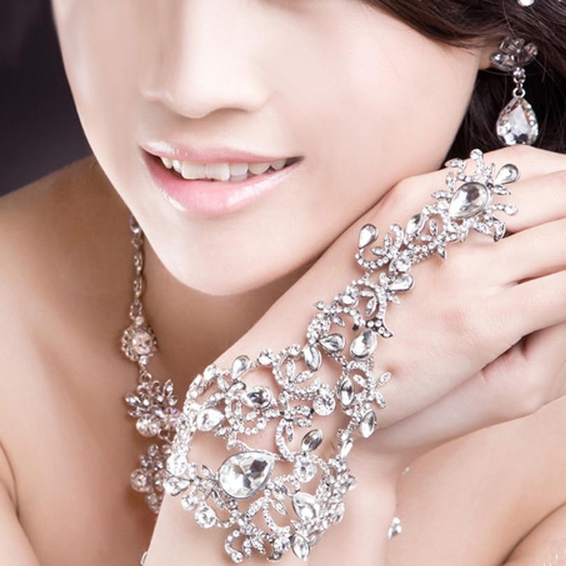 Hot Elegant Wedding Bridal Party Prom Jewelry Crystal Rhinestones