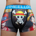 5pcs/lot The Japanese Animation Men Briefs One Piece Monkey D Luffy Printing Men'S Shorts Cotton Underwear  Brave Person