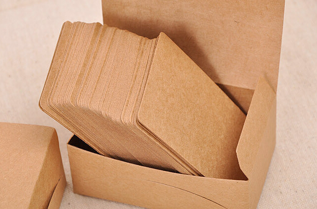 100 Sheets/Box Blank Kraft Cardstock Thick Paper Business Card Gift Tags Plain Note Cards 200gsm lumiparty 100pcs double sided blank kraft paper business cards word card message card diy gift card 30