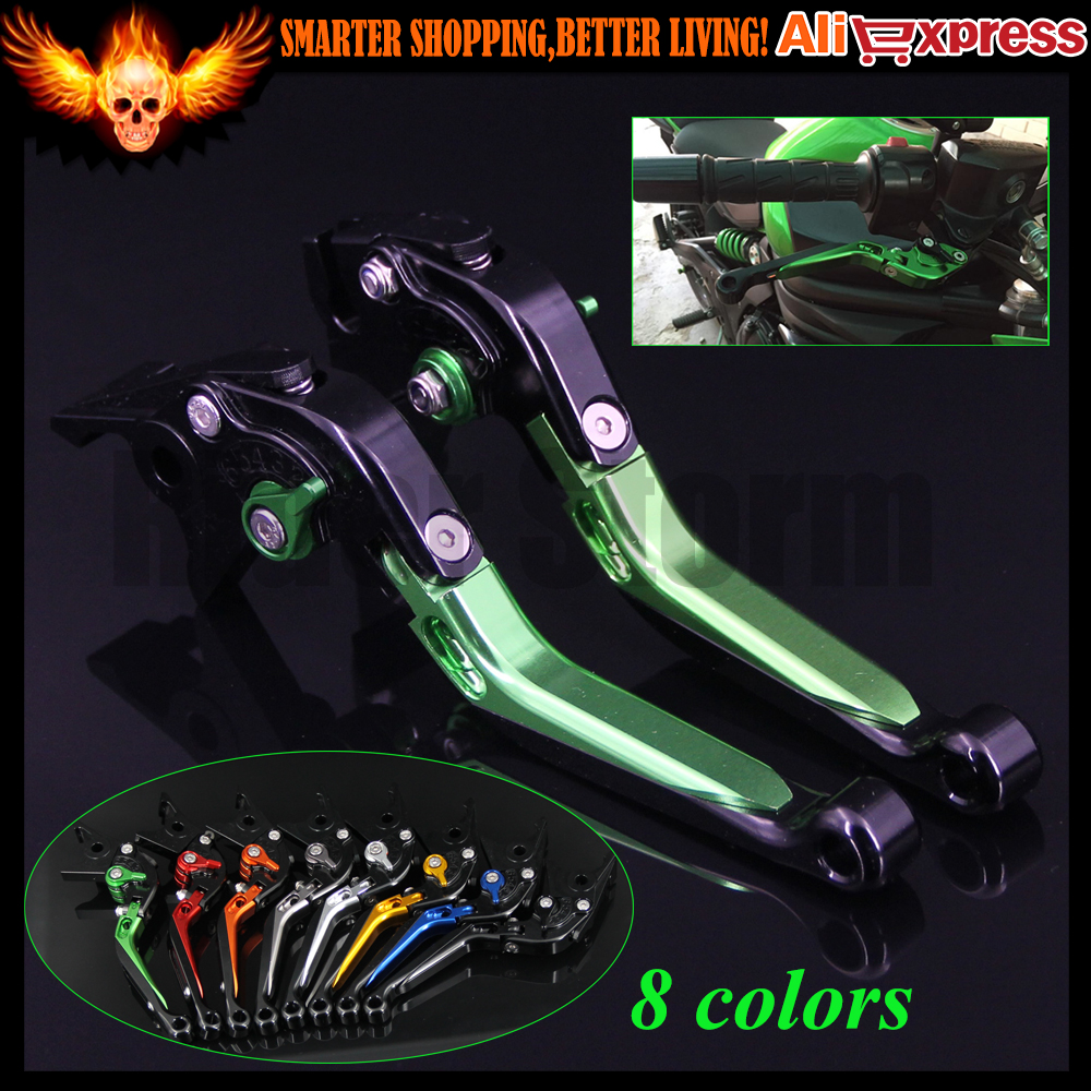 CNC Adjustable Extendable Motorcycle Brake Clutch Levers For Kawasaki Z1000 2007 2008 2009 2010 2011 2012 2013 2014 2015 2016 billet adjustable long folding brake clutch levers for kawasaki z750 z 750 2007 2008 2009 2010 2011 07 11 z800 z 800 2013 2014