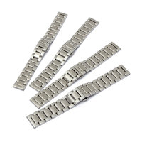 2016 Excellent Quality Stainless Steel Watch Strap Metal Clasp 18 22mm Watchband With Push Button Clasp