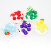 Children's Fruit Ice Cream Decompression Clay Crystal Mud Toy 60ml New Ice Cream Cotton Mud Fruit Slim Pineapple Crystal Mud(China)