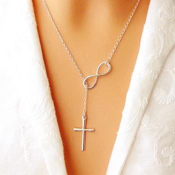 Infinity Cross Pendant Ring