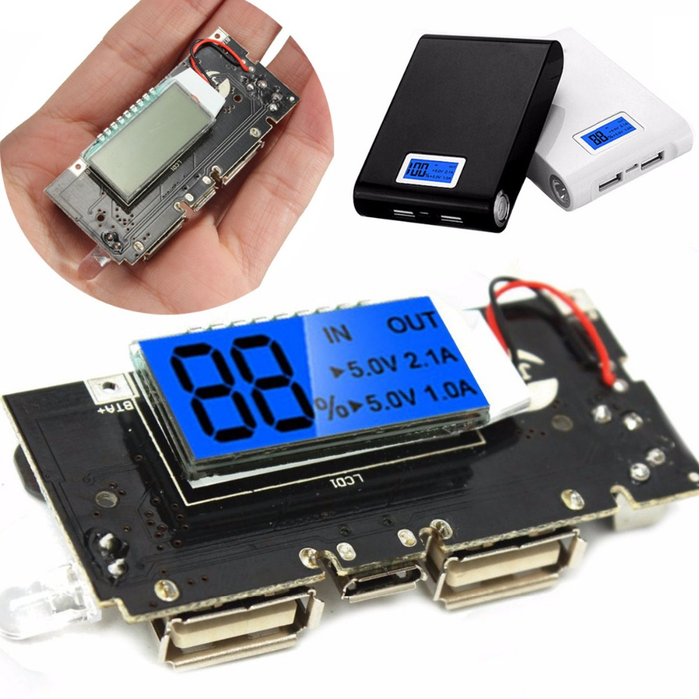 Dual Usb 5v 1a 21a Mobile Power Bank 18650 Battery Charger Pcb Ledclockcircuitboard2jpg Module Board On Alibaba Group
